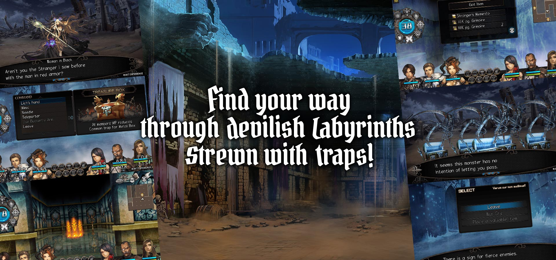 Find your way through devilish Labyrinths strewn with traps!